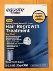 Equate Hair Regrowth  for Men Minoxidil Topical Aerosol 5% Opened box: 03/2020