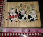 Penny Black moo birthday cows big203 woodenrubberstamp