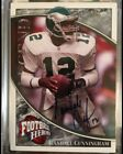 RANDALL CUNNINGHAM 2009 UD HEROES ON CARD AUTO FOUR CARD LOT TWO 1 1's 25 10