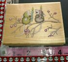 House mouse Christmas singing duo stampabilities 53 woodenrubberstamp