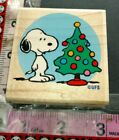 Snoopy Snoopys tree stampabilities 54 woodenrubberstamp
