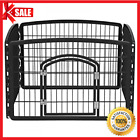 Portable Exercise Playpen Pet Crate Cage Dog Kennel Puppy Fence Folding Playpen