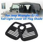 Tail Light Trim Cover Rear Guard Protector For 87-06 Jeep Wrangler TJ YJ Black