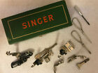 Vintage Singer Sewing Machine Attachments with extras In Original Box