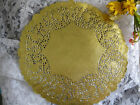 175 pcs  12 INCH ROUND GOLD FOIL PAPER LACE DOILY WEDDING PLACEMAT CHARGER