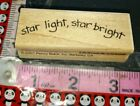 Star light star bright Penny Black used 64 woodenrubberstamp
