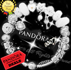 Authentic Pandora Bracelet Silver White with LOVE STORY WIFE European Charms
