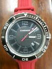 New Wenger Swiss Men Roadster Black/ Red Silicone Watch MSRP $195 No Reserve