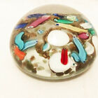 Vintage Multi colored Art Glass Paperweight