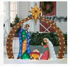 Christmas Lights Metal Nativity Display Scene Set Outdoor Yard Decor Holiday NEW
