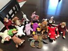 Lot Of 15 Teenie Beanie Babies Snort Springy Dizzy Coral Chops Nuts