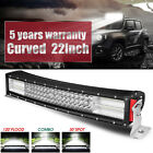Quad Row 22inch Cree Curved LED Light Bar Combo Beam Offroad Truck VS 202426