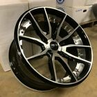 17 A1 512 STYLE WHEELS RIMS BLACK FITS LEXUS IS200 IS250 IS300 SC300 SC400