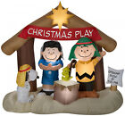 Peanuts Merry Christmas Yard Nativity Scene Decorations Lawn Inflatable Outdoor