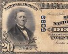 1902 20 DECATUR IL Ch 5089 Milliken National Bank Note FREE SHIPPING 37662