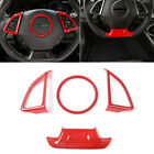 4pcs Red steering wheel Cover Trim for Chevrolet Camaro 2017+ Accessories
