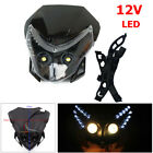 Motorcycle Front LED Headlamp Cover Fairing Light Dual Street Fighter Headlight