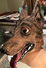 Dog Face Head Mask Halloween Dress Up Adult Costume One Size