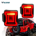 A Pair LED Taillights Full Red Lens For 18 19 Jeep Wrangler JK JL