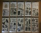 10 Halloween Themed Clear Stamps Stamps  Die Sets