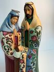 Jim Shore Heartwood Creek  Blessed Is His Birth 4017643 Holy Family Figurine