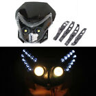 12V Motorcycle Bike Front LED Headlamp Assembly Dual Street Fairing Light Kit