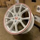 18 2018 FK8 CIVIC TYPE R STYLE WHEELS RIMS WHITE RED FITS HONDA ACCORD