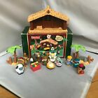 2002 Fisher Price Little People Deluxe Christmas Nativity in Box WORKS 98 comp