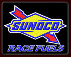 SUNOCO RACE FUELS BLACK EMBROIDERED PATCH ~4-1/4