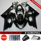 Gloss Black Fairing Set Fit for Suzuki GSXR 600 GSX-R 750 2004-2005 K4 Injection