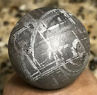 Large Museum Quality ETCHED REAL GIBEON IRON METEORITE SPHERE 74 GMS 1 254mm