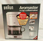 New in Box Braun 4 Cup Coffeemaker Aromaster KF12 White With Permanent Filter