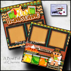 FIRST THANKSGIVING baby boy premade scrapbook pages paper printed CHERRY 0103