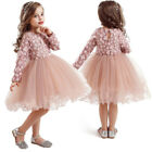 Girl Dress Tutu Baby Kids Causal Wear Party Long Sleeve Winter Children Clothing