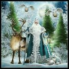 Santa Claus in the Snow - DIY Chart Counted Cross Stitch Patterns Needlework
