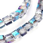 Wholesale Blue Grey Glass Beads Cube 4mm AB 20 Strands Of 99+