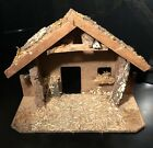 VIntage Nativity WOODEN Creche STABLE Roman Inc Made in Mexico