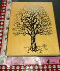 Large bare oak tree visual image printery172 woodenrubberstamp