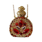 Amber Glass Beautiful Crystals Perfume Bottle Necklace