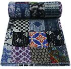 Vintage Kantha Quilt Assorted Patchwork Throw Bohemian Bedspread Twin Size