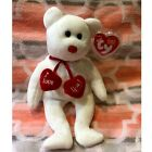 "TY TRULY the BEAR BEANIE BABY - MINT with MINT TAG ""I Love You"""