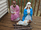 Vintage Empire Nativity Blow Mold Mary Joseph and Baby Jesus All Lighted