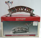 Lemax Hearthside or Dickensvale Village Wooden Footbridge Accessory Light Garlan
