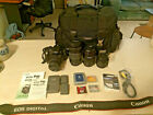 Canon EOS Digital Rebel XT 350D DSLR Complete Kit Body+4 Lenses+Case+Batteries
