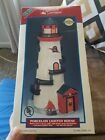 Lemax Village Plymouth Corners Flashing Porcelain Lighted Lighthouse MIB 1998