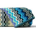 Missoni Lara Blue Stripes Towel Hand Sheet Hand  bath Towel