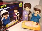 Vintage Rare Empire Childs Nativity LightUp Blow Mold Set Baby Jesus Mary Joseph