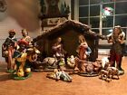 VINTAGE FONTANINI 12 SCALE NATIVITY SET ITALY PAPER MACHE COMPOSITION