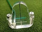 AWESOME RARE Clear See Through Acrylic Putter RH 355 NEW GRIP mm3391