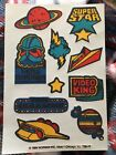 Vintage 1980s Scratch N Sniff Stickers Rare Video Game Arcade Mark I Fruity